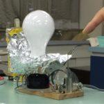アーク電灯の実験