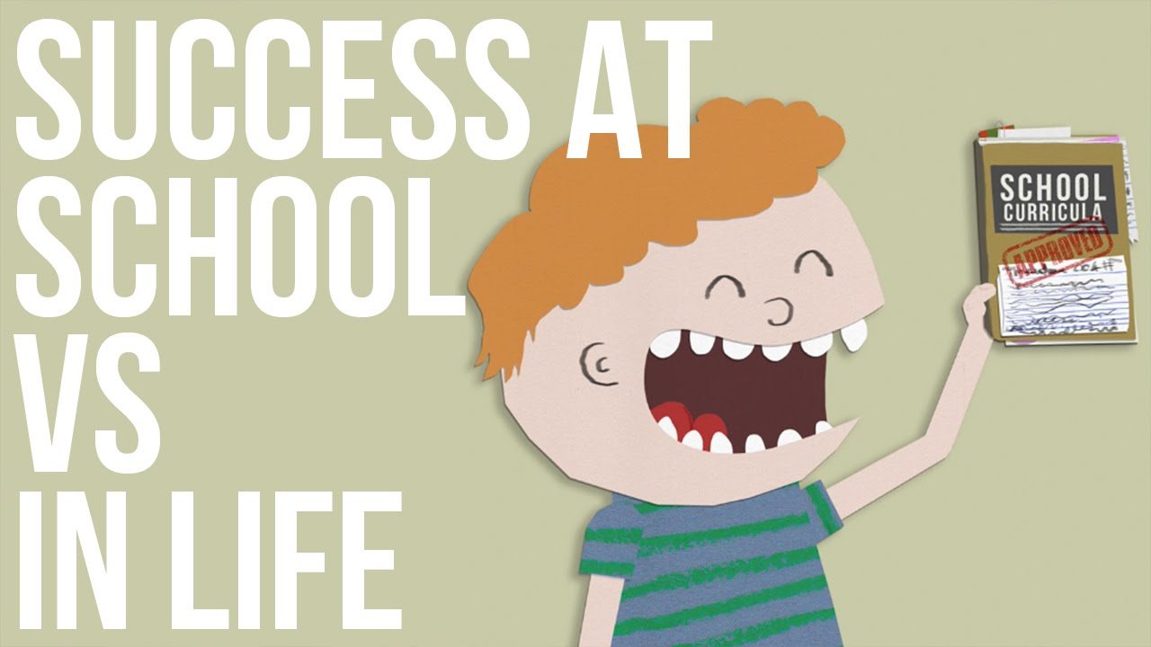 教師に見てほしい動画「Success at school VS In life(学校の成績と人生の成功は関係ない?)」