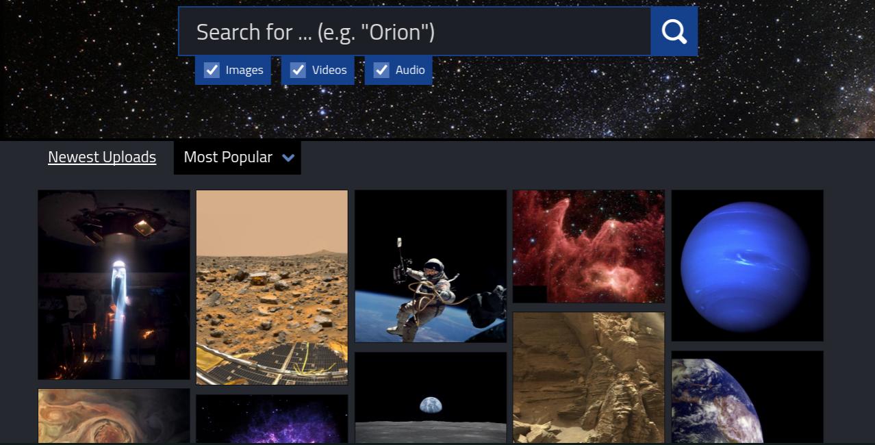 NASAの素材が無料でダウンロードできるNASA image and Video Libraryがすごい!