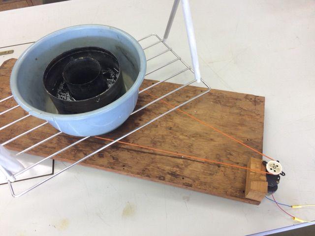 回転水槽によるロスビー循環モデル
