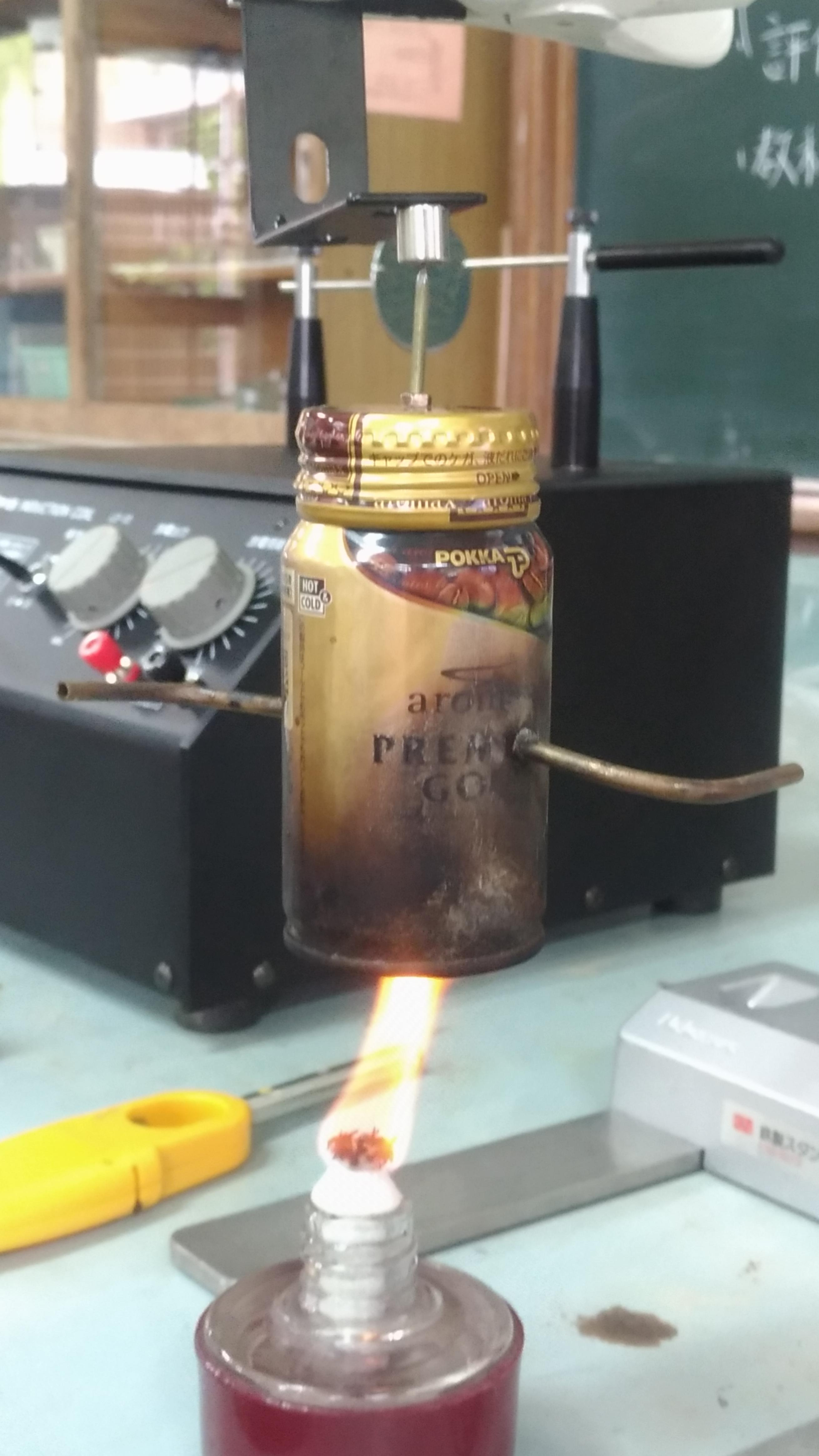 大阪科学技術センター「ティーチャーズスクール」のエネルギー変換の実験2