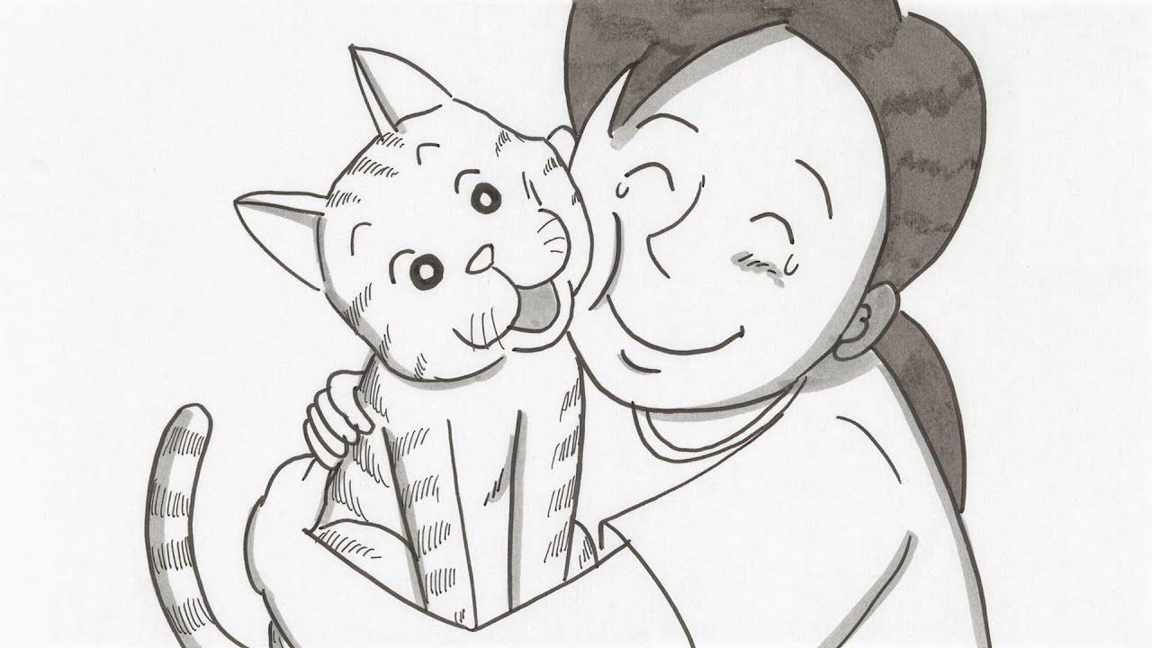 鉄拳のパラパラ漫画「小さな頼り、大きな頼り」