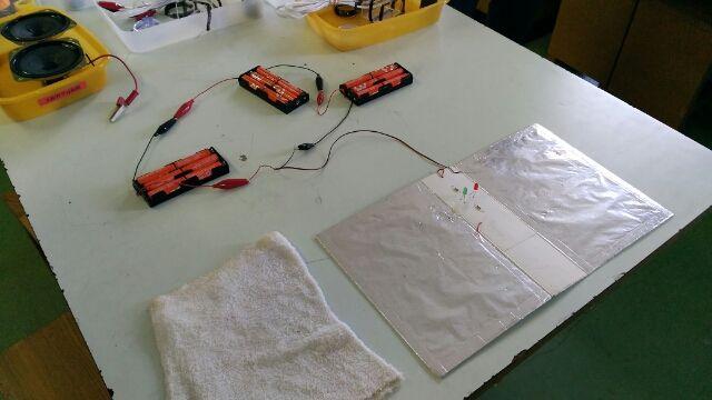 電気を感じるプチ実験