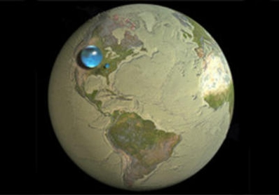 授業で見せたい画像「地球上にある飲み水の量」