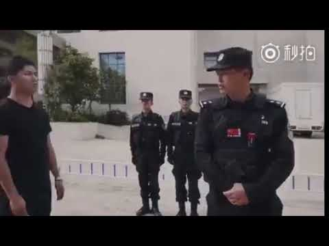 中国公安の不審者への対応が面白いと話題に