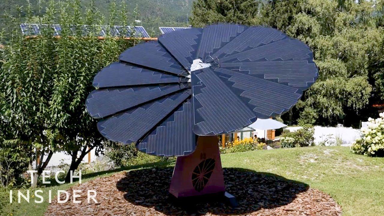 太陽の方向を向き続けるソーラーパネル「SmartFlower」