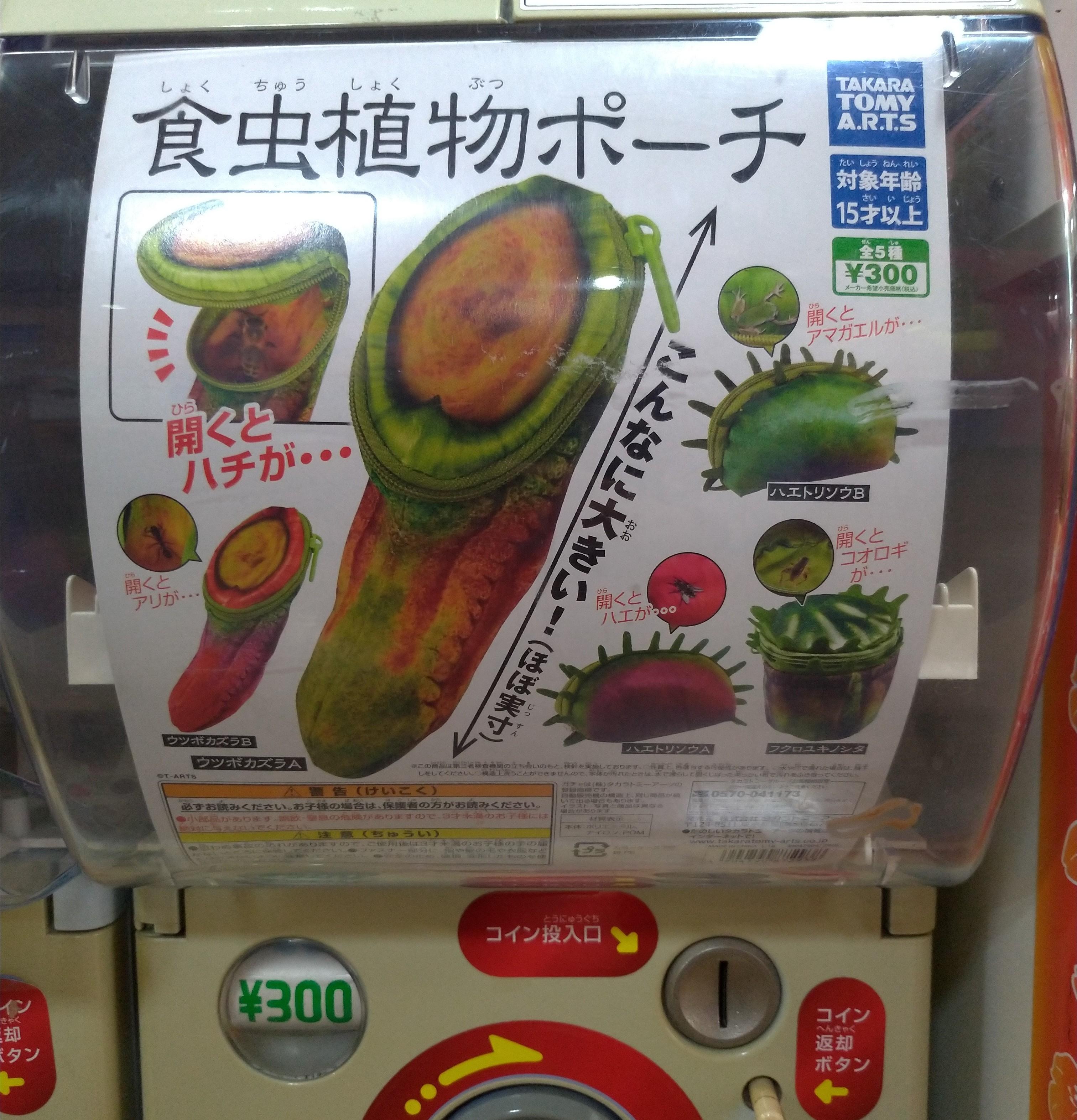 科学がちゃ「食虫植物ポーチ」