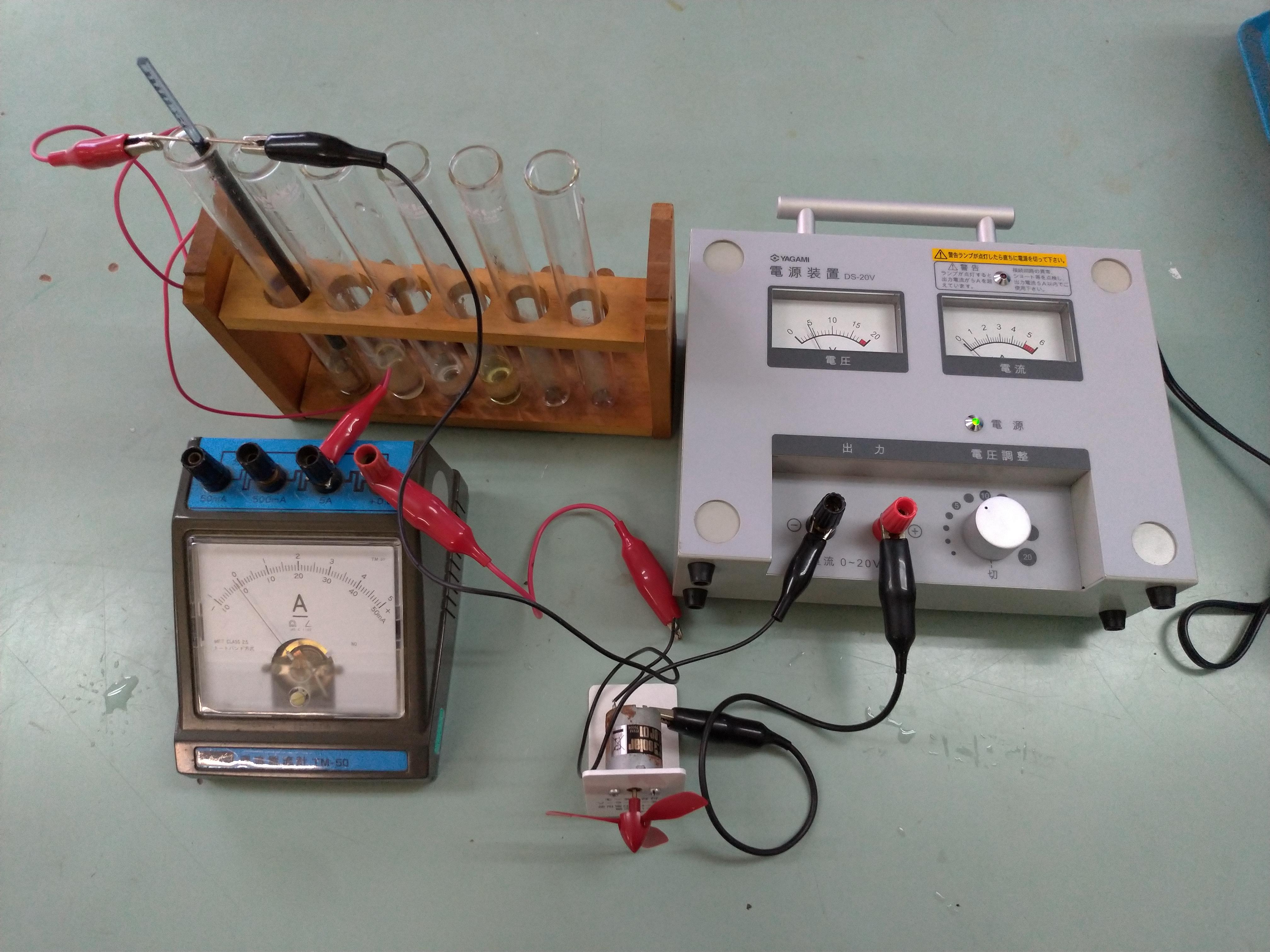 電解質と非電解質を調べる実験