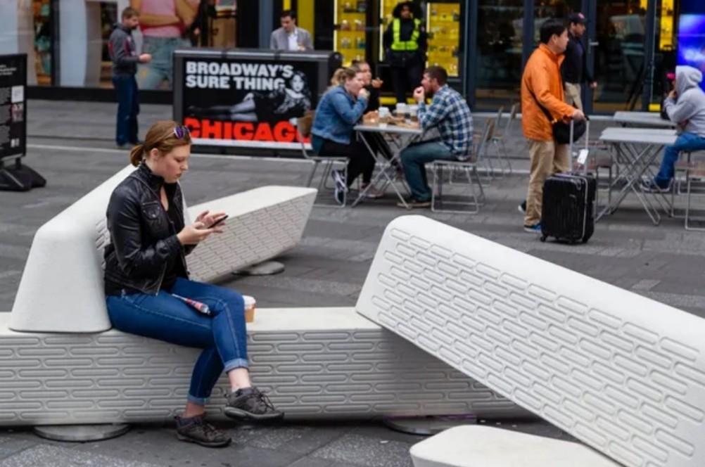 ニューヨークのベンチで支点・力点・作用点とエネルギーの変換を考える