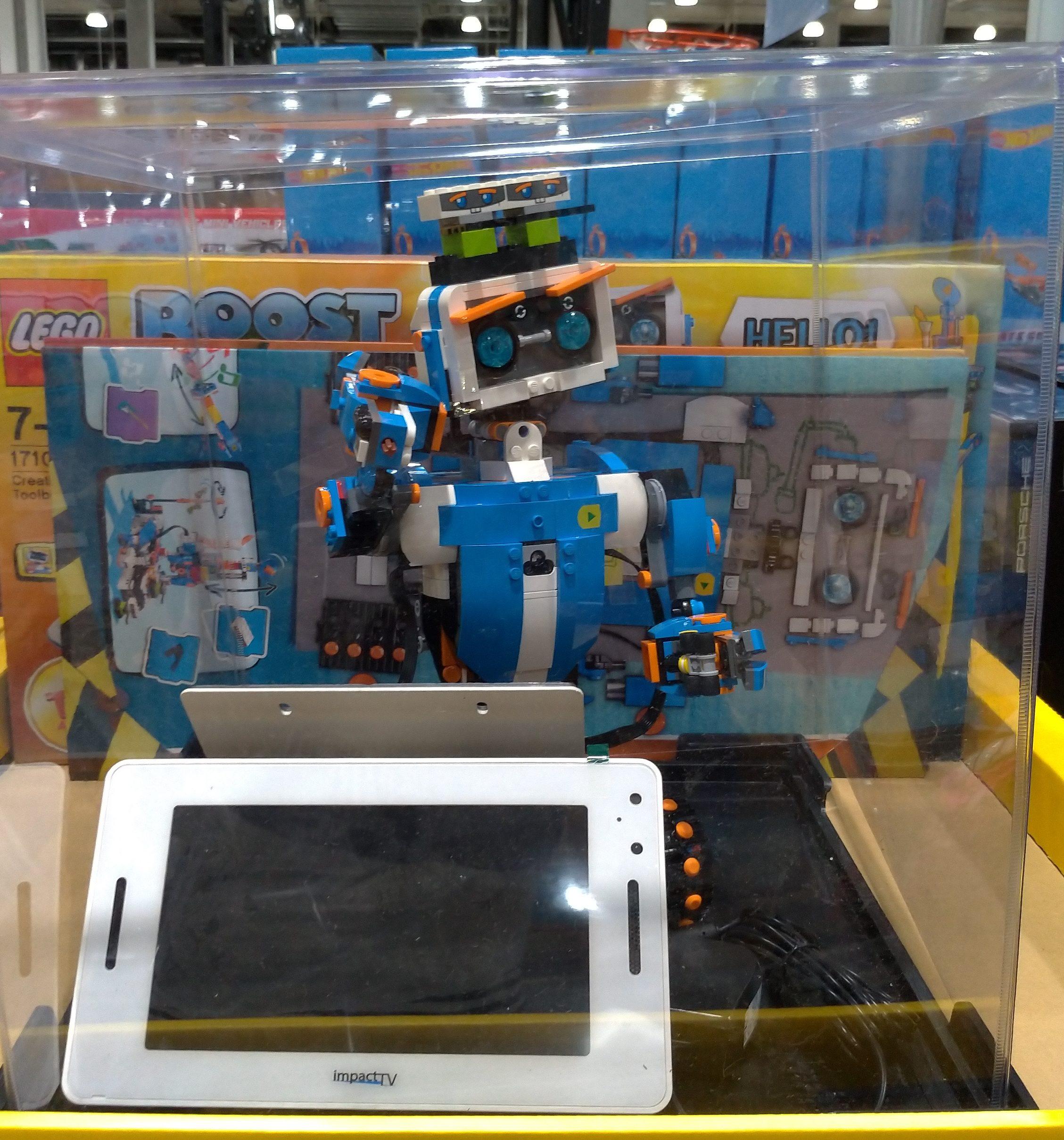 LEGOのプログラミング教材 ブーストロボットのバーニーが面白い