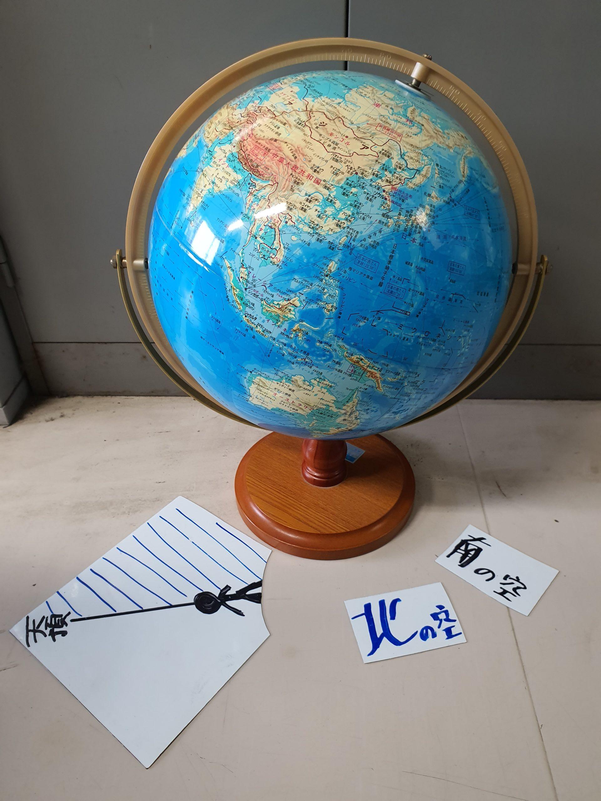 北半球と南半球での方位を伝える教材