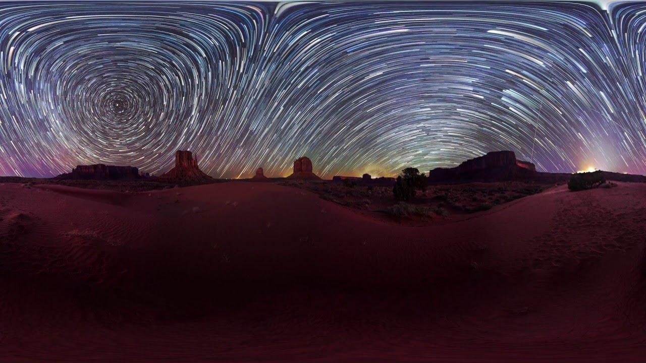 星空の全天球タイムラプス動画で星の動きを学ぶ