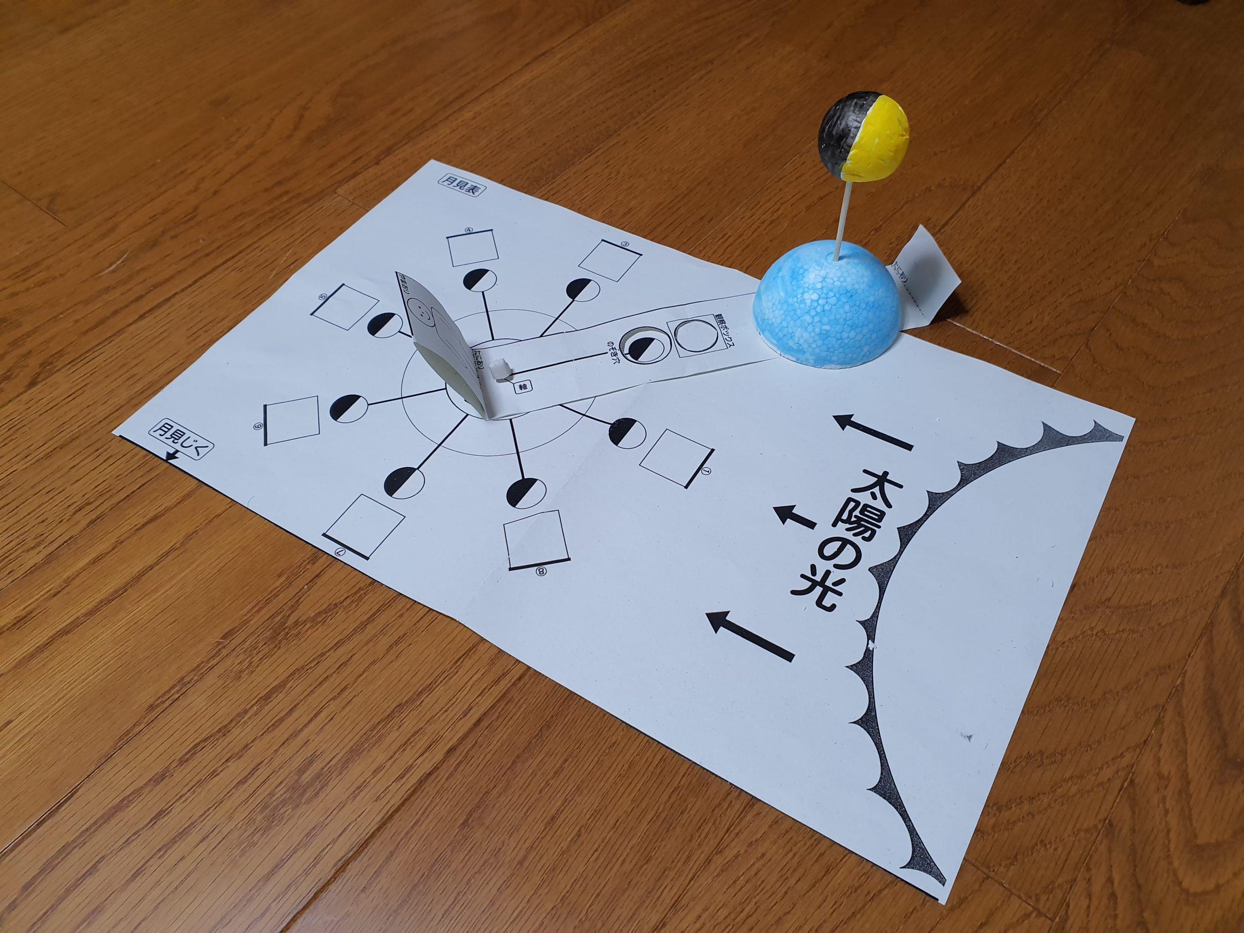 DAISOScienceの月の満ち欠け実験キットが授業で使える!