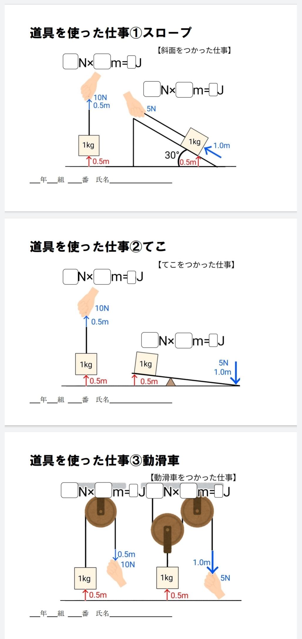 ふたばのワークシート3年(物理分野)