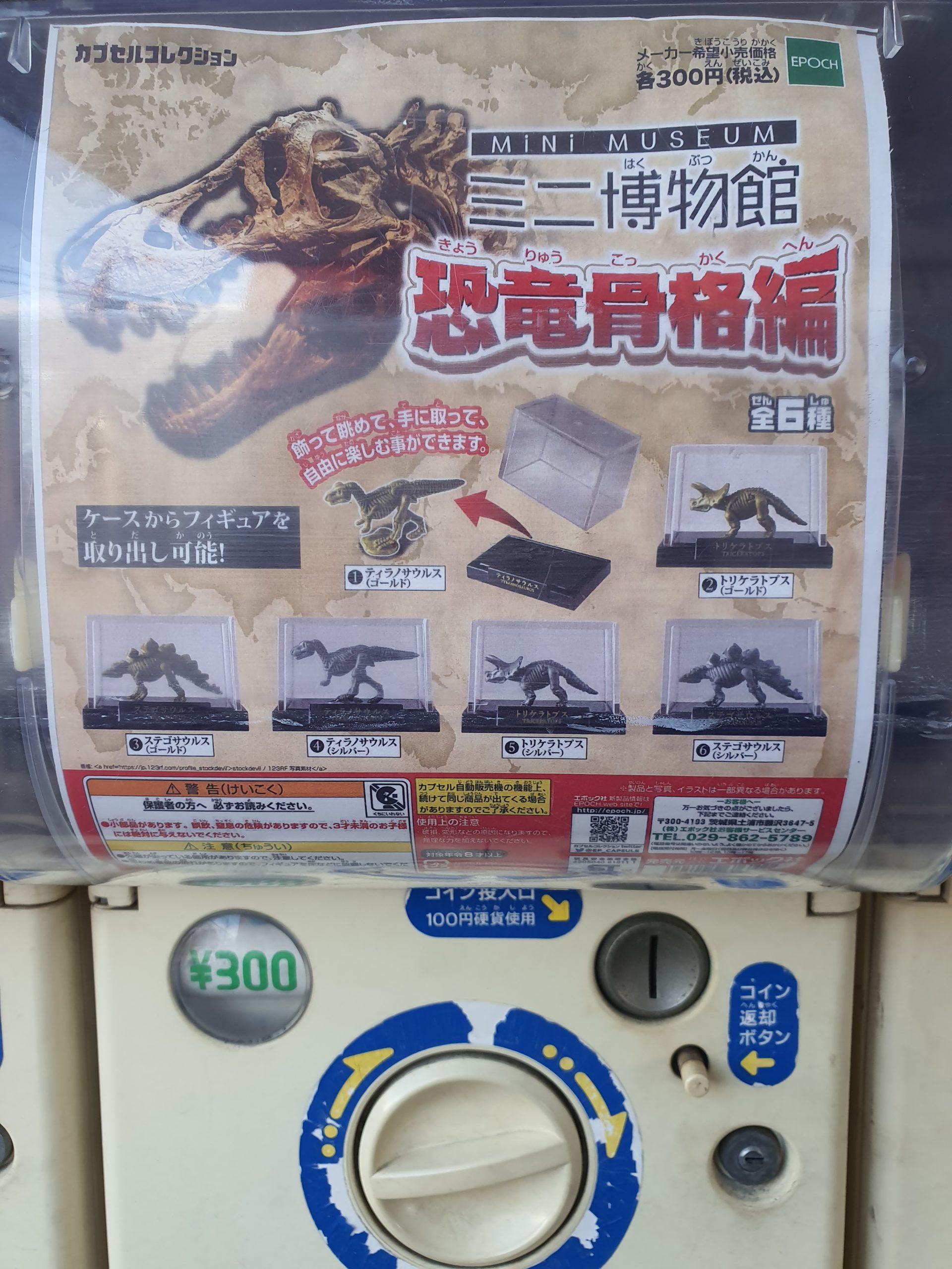 科学ガチャ「ミニ博物館 恐竜骨格編」と「きれいなクラゲ」