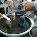 ヨウ素液で指紋採取