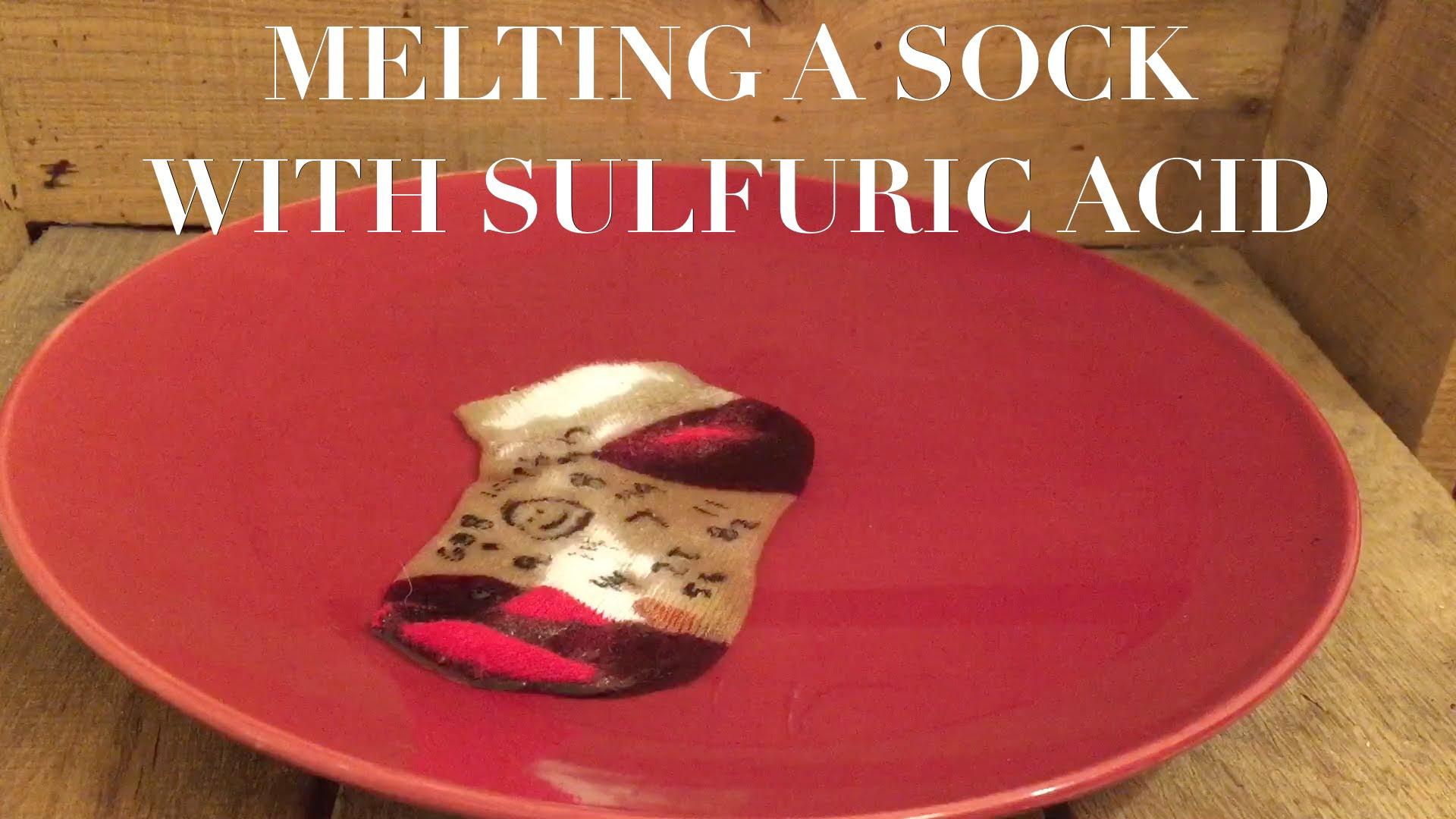 授業で見せたい動画48「靴下を硫酸に浸すと・・・」