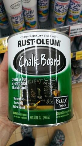 塗るだけでどこでも黒板にできるチョークボードペイントがすごい!