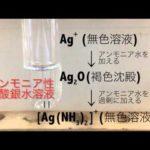 アンモニア性性硝酸銀の還元による銀鏡反応