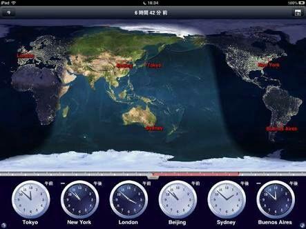 航路図で地軸の傾きを知る