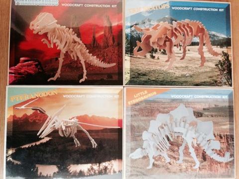 100均で恐竜のウッドクラフト!